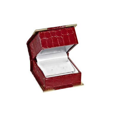 BX-4100-4-E Red Croco Grain Earring Box (9290743236)