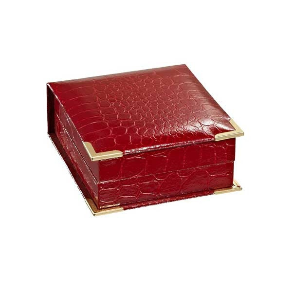 BX-4100-4-P Red Croco Grain Pendant Box