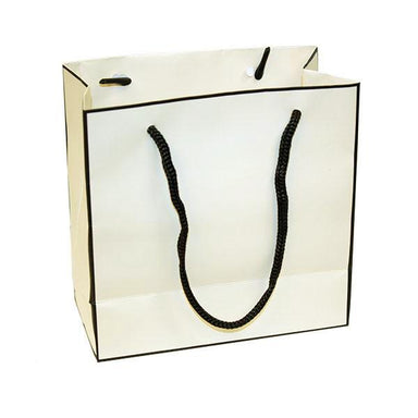 Cream with Black Trim Gift Bag (1557417132066)