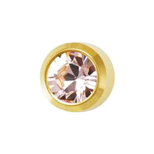 June Alexandrite Studs in Bezel Setting - card of 12 pairs (553013903394)