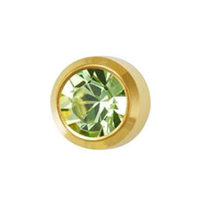 August Peridot Studs in Bezel Setting - card of 12 pairs