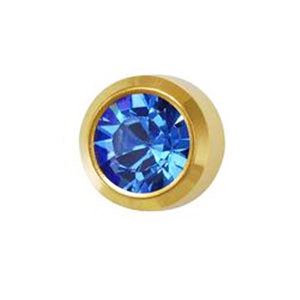 September Sapphire Studs in Bezel Setting - card of 12 pairs