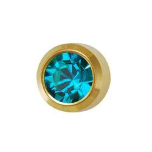 December Blue Zircon Studs in Bezel Setting - card of 12 pairs