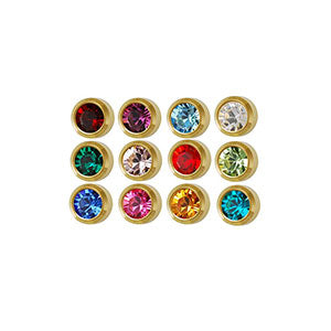 2 mm Mini Bezel Birthstone Stud Assortment (550578815010)