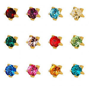 3 mm Tiffany Birthstone Assortment