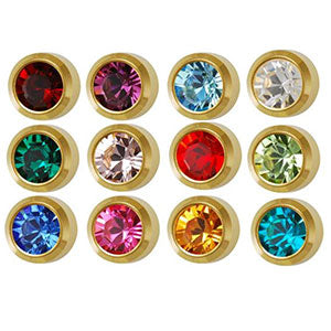3 mm Bezel Birthstone Stud Assortment