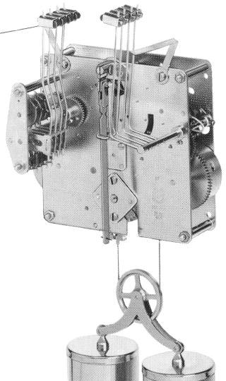 Hermle Clock Movement 351-850.