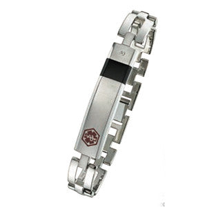 Stainless Steel Medical ID Bracelet 801MED