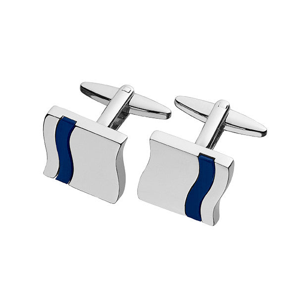 Blue Cat Eye Inlay Cufflink SC78