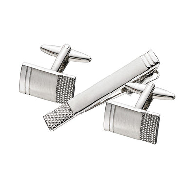 Patterned Cuff Link Tie Bar Set SCT32 (11627006927)