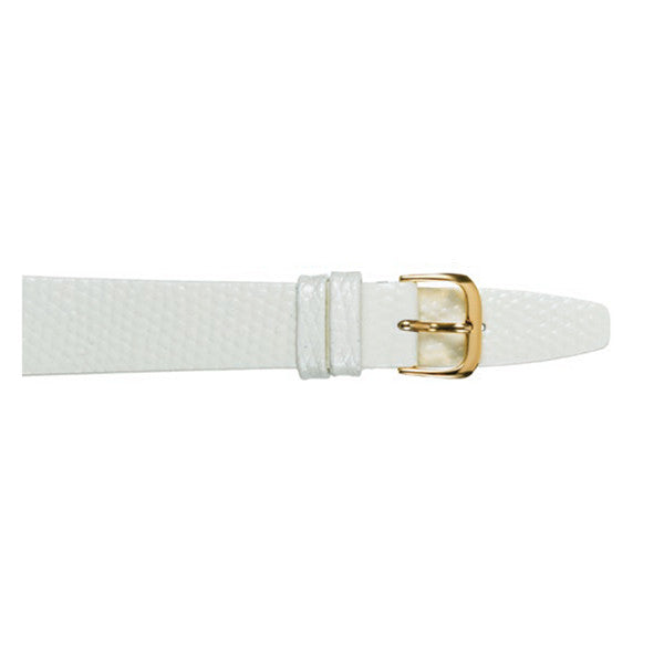 white lizard grain watch strap