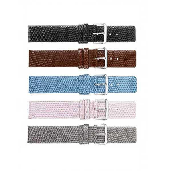 318 Flat Calf Lizard Grain Watch Strap