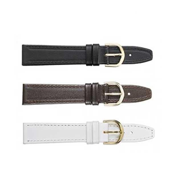 334 Flat Stitched Leather Watch Strap