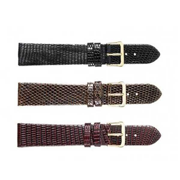 366 Flat Genuine Lizard Watch Strap