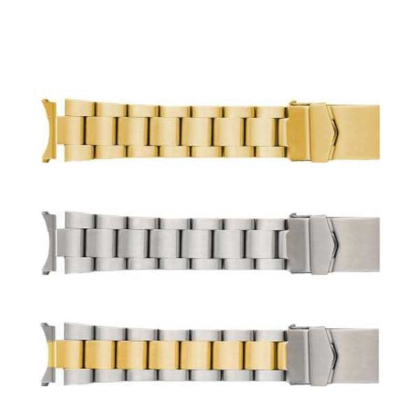 599 Multi Curved End Metal Watch Band
