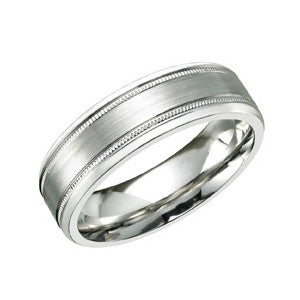 Satin Finish Cobalt Ring