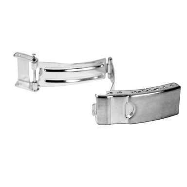 Stainless Steel 3 Fold Buckles with Safety (Divers Foldover with Safety) (534382641186)