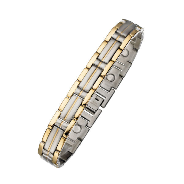 Two Tone Magnetic Steel Bracelet 11mm