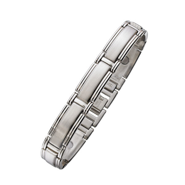 Brushed Steel Magnetic Bracelet 12mm