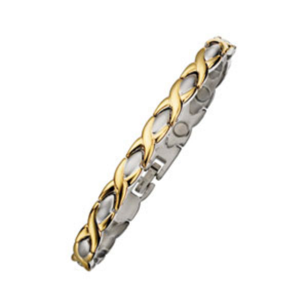 Ladies Two Tone Magnetic Bracelet