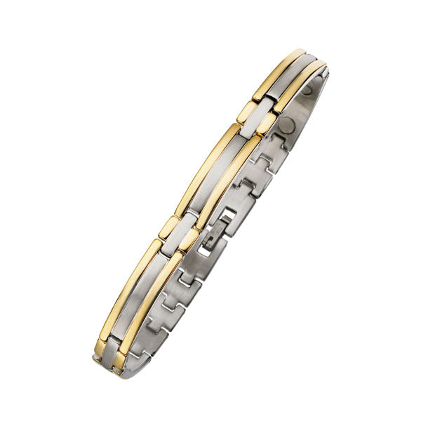 Ladies 8mm Two Tone Magnetic Bracelet