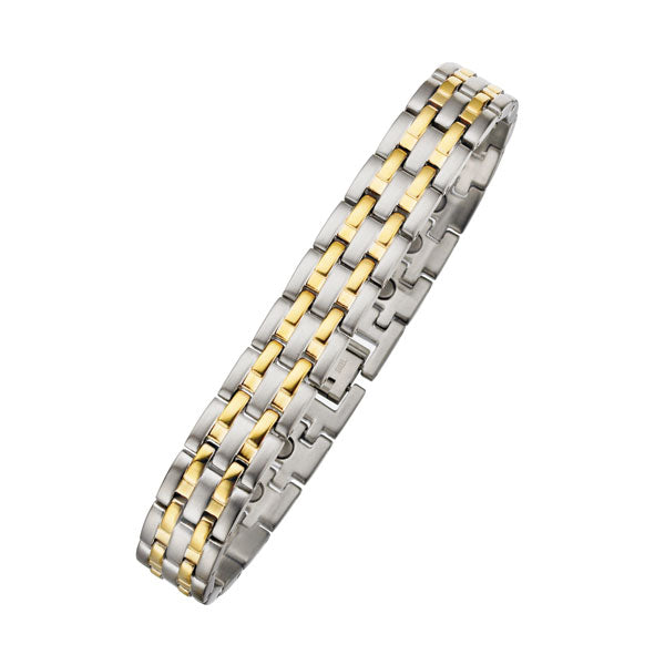 Men's Two Tone 12mm Magnetic Bracelet