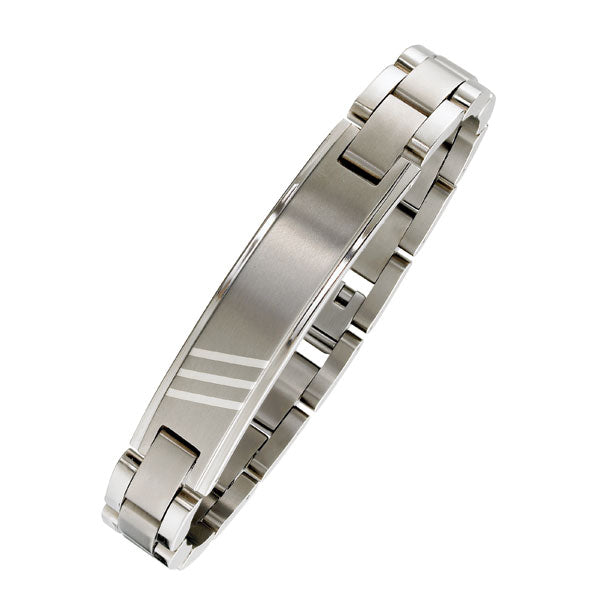 Heavy 12mm Steel ID Bracelet (9318919556)