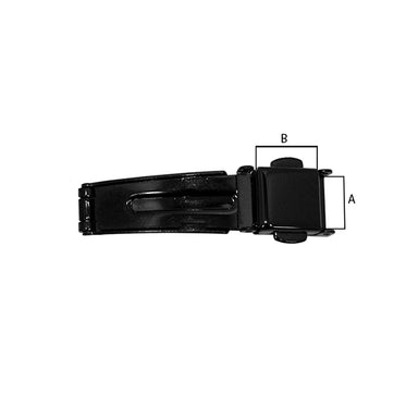 Black PVD Plated 3 Fold Double Buckles with Button Release (535240278050)