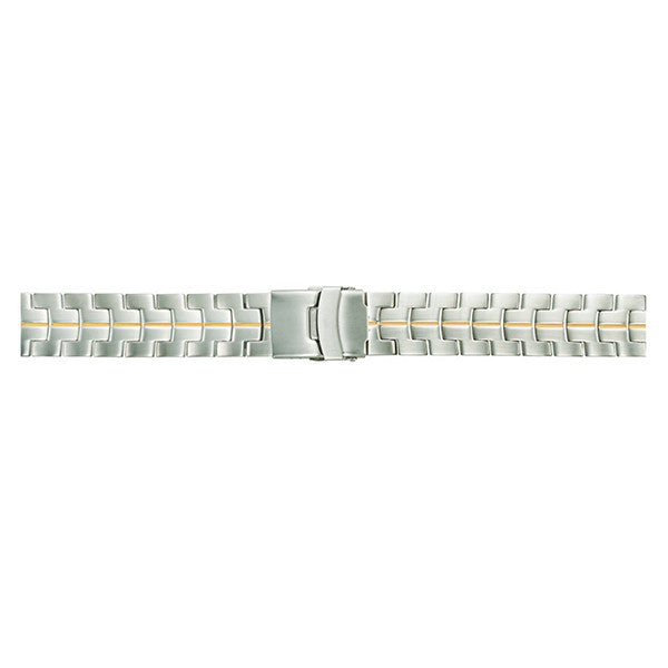 T601 Men's Solid Link Watch Band with Clasp