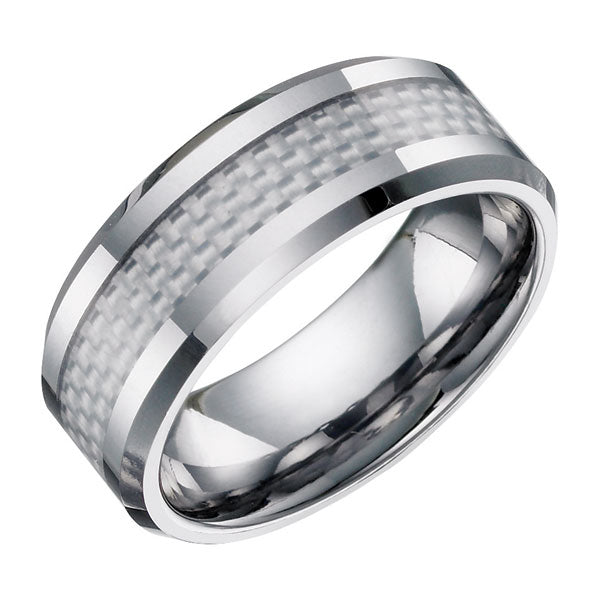 Tungsten Ring with Carbon Fibre TUR21