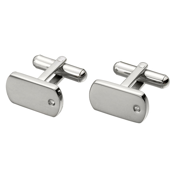 Steel with CZ Cufflink