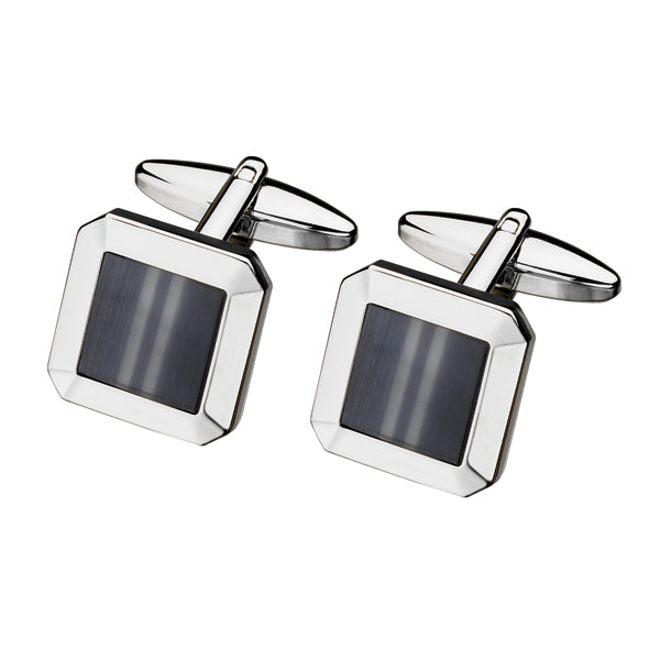 Fibre Optic Glass Square Cufflink (9318938372)