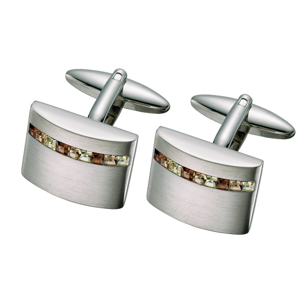 Golden Austrian Crystal Cufflinks (9318940228)