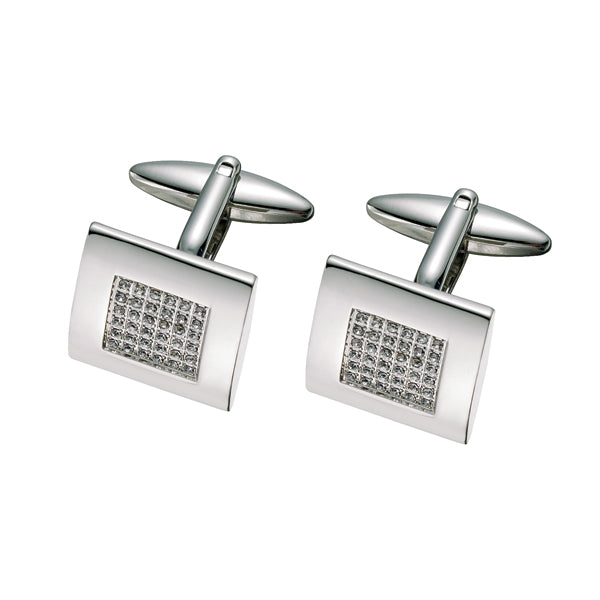 Imitation Diamond Austrian Crystal Cufflinks