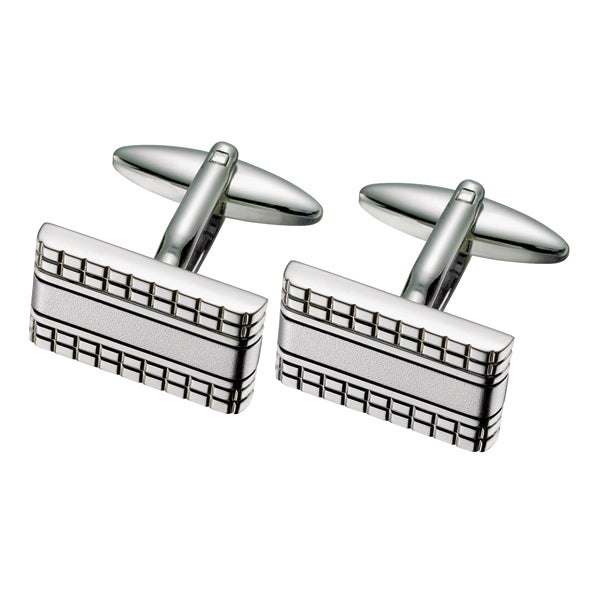Rectangular Patterned Cufflinks
