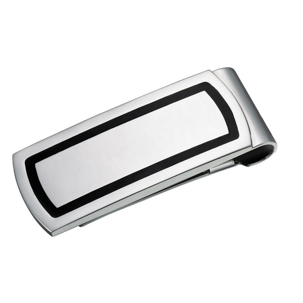 Black Lined Money Clip