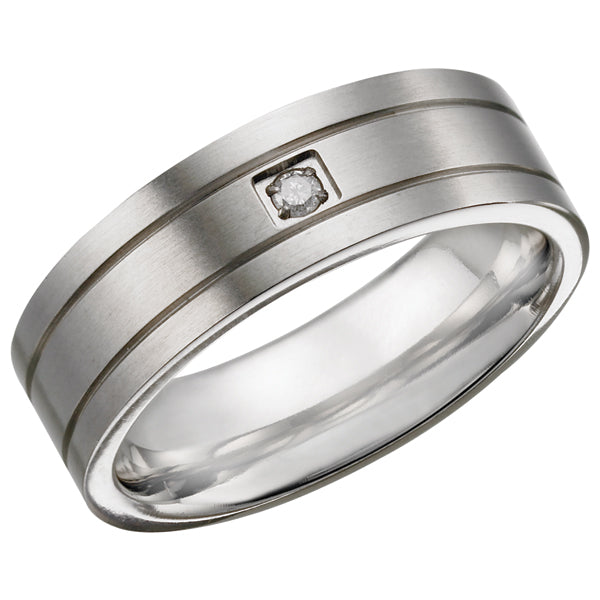 Titanium Ring with Diamond TR14