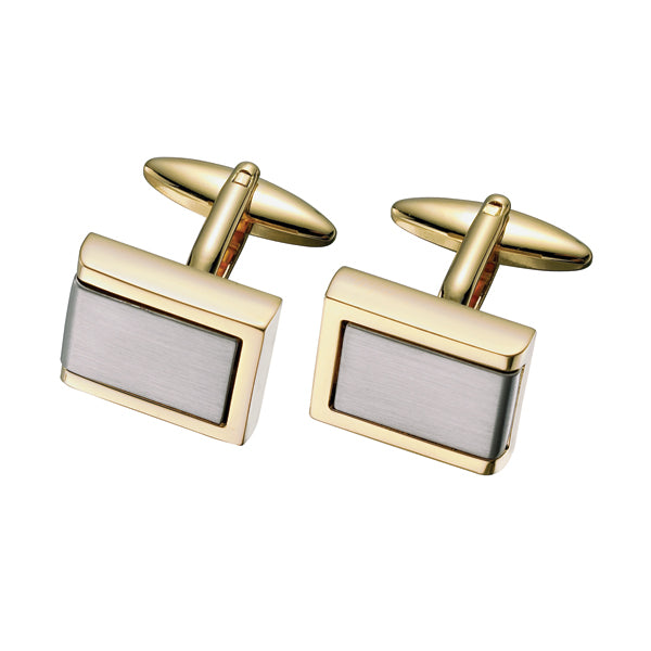 Two Tone Rectangular Cufflinks (9318992644)
