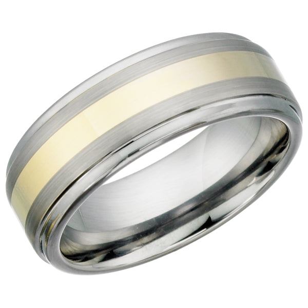 Two Tone Tungsten Ring TUR12