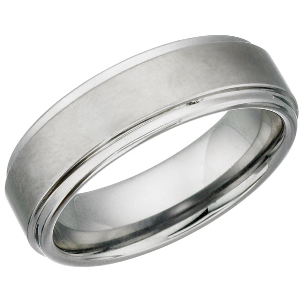 Brushed Finish Tungsten Ring TUR14
