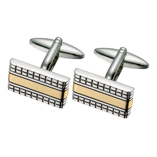 Two Toned Patterned Cufflinks