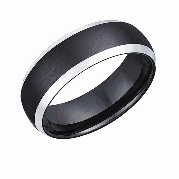 Comfort Fit Black Plated Tungsten Ring TUR37