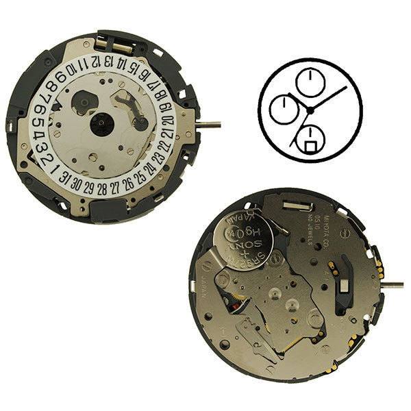 0S10 Date 6 Watch Movement