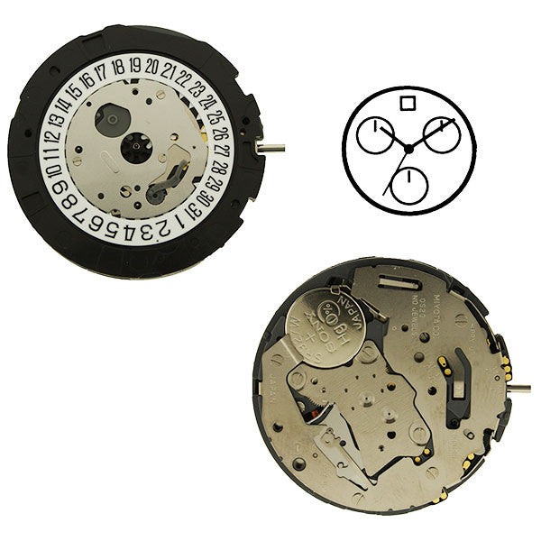 0S20 Date 12 Watch Movement