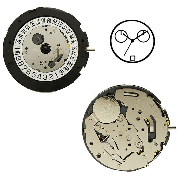 0S21 Date 6 Watch Movement