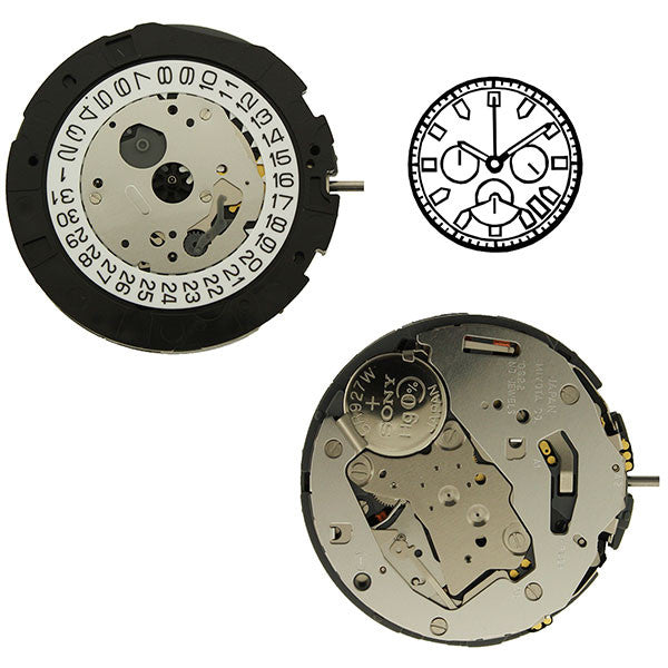 0S22 Miyota Watch Movements