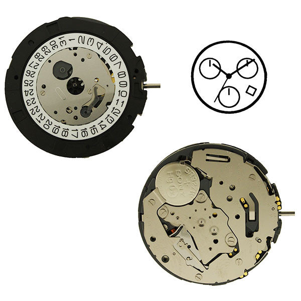 0S2A Miyota Watch Movements