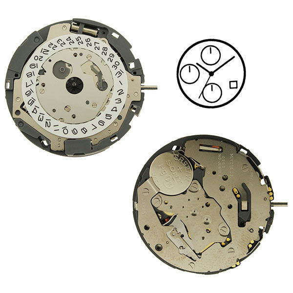 0S60 Date 4 Horizontal Watch Movement