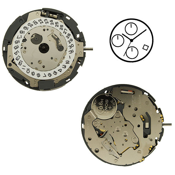 0S60 Date 4 Suspended Watch Movement