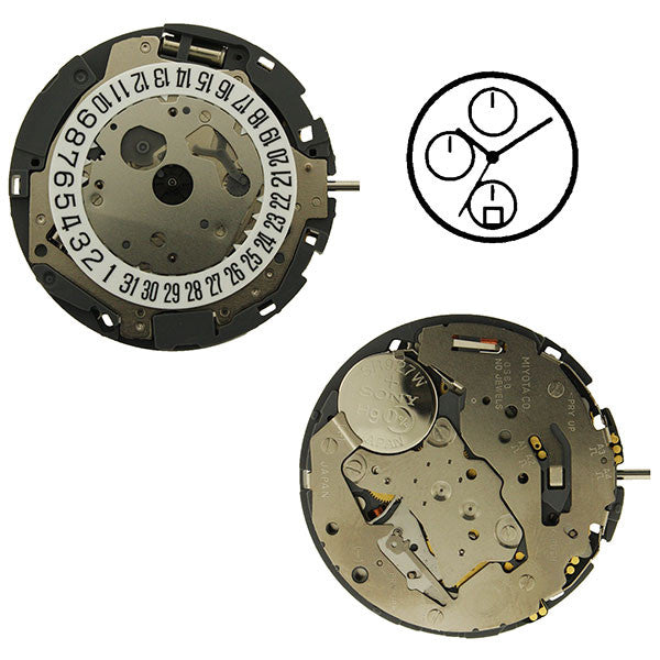 0S60 Date 6 Watch Movement
